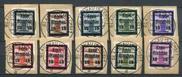 SBZ Local Stamps Glauchau Mi#  20-19 Gestempelt/used - Overprinted Service Stamps - Signature Sturm - Zona Sovietica