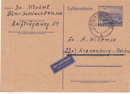 BERLIN 1956    ENTIER POSTAL/GANZSACHE/POSTAL STATIONERY  LUFTPOSTKARTE - Postkarten - Gebraucht