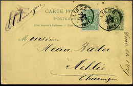 Postkaart -  Van Liège Naar Thuringen - Postcards [1871-09]