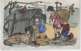 Illustrateur - POULBOT - Niche Comme Refuge, Carte Colorisée - Poulbot, F.