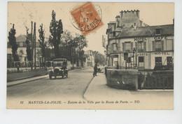 MANTES LA JOLIE - Entrée De La Ville Par La Route De Paris (Hôtel Café Des Sports ) - Mantes La Jolie