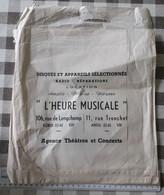 """POCHETTE PAPIER 33T. PUB. MAGASIN """"L'HEURE MUSICALE"""" 106,RUE DE LONGCHAMP-11,RUE TRONCHET.PARIS. PATHE MARCONI.COLUMBIA. - Accessori & Bustine"""