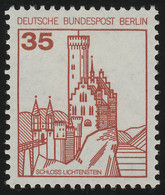 673 BuS Neue Fluo 35 Pf, Einzelmarke + VIERSTELLIGE Nr. ** - Rollenmarken