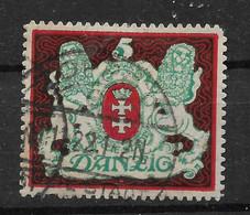 Danzig, Guter Gestempelter Wert Der Großes-Wappen- Ausgabe Vom 1. August 1921 - Coordination Sectors
