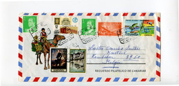 2 Airmail Covers To Belgium - Decorative - see Scans For Stamps And Cancellations + Kameel Camel - Sin Clasificación