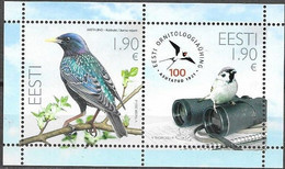 ESTONIA, 2021, MNH, BIRDS, ORNITHOLOGICAL SOCIETY, SHEETLET - Other