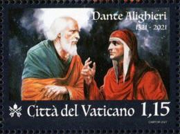 Vatican - 2021 - 700th Anniversary Since Death Of Dante Alighieri - Mint Stamp - Nuovi