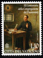 Vatican - 2021 - 300 Years Of Congregation Of Passionists - Mint Stamp - Nuovi