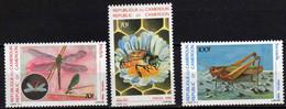 Cameroun  N° 782 / 84 XX  Faune : Insectes, Les 3 Valeurs Sans Charnière, TB - Camerun (1960-...)