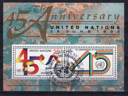 United Nations 1990 Mini Sheet To Celebrate 45th Anniversary Of United Nations In Fine Used - Gebraucht