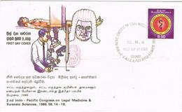 41915. Carta F.D.C. COLOMBO (Sri Lanka) Ceilan 1986. MEDICINE. Ciencia Forense - Sri Lanka (Ceylon) (1948-...)