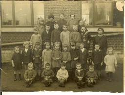 Vieille Photo Groupe D'enfants Ancienne école De Wanze 1925 - Plaatsen