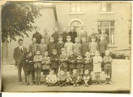 Vieille Photo Groupe De Garçons Ancienne école De Wanze 1927 - Plaatsen