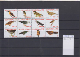 Surinam Michel Cat.No. Mnh/** 2043/2054 Birds - Surinam