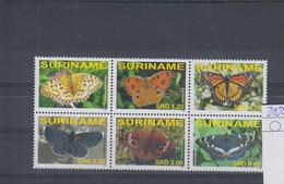 Surinam Michel Cat.No. Mnh/** 2102/2107 Butterfly - Surinam
