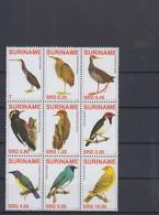 Surinam Michel Cat.No. Mnh/** 2129/2137 Birds - Surinam