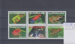 Surinam Michel Cat.No. Mnh/** 2166/2171 Frogs - Surinam