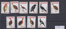 Surinam Michel Cat.No. Mnh/** 2268/2277 Birds - Surinam