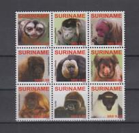 Surinam Michel Cat.No. Mnh/** 2336/2344 Monkey - Surinam