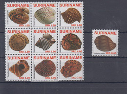 Surinam Michel Cat.No. Mnh/** 2361/2370 Shells - Surinam