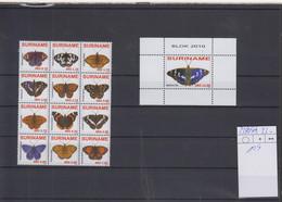 Surinam Michel Cat.No. Mnh/** 2380/2391 + Sheet 109 Butterfly - Surinam