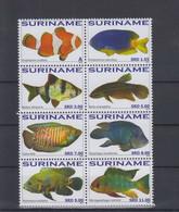 Surinam Michel Cat.No. Mnh/** 2433/2440 Fish - Surinam