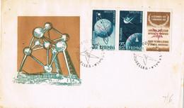 41919. Carta RUMANIA 1958. EXPOSICION UNIVERSAL BRUXELLES (Belgien), Stamp Surcharges Etoile, Overprinted - Cartas