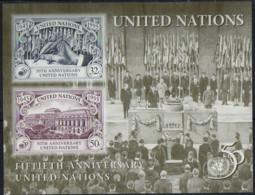 NATIONS UNIES (New York) - 50e Anniversaire Des Nations Unies Feuillet - Blocks & Kleinbögen