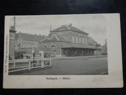 Sottegem/Zottegem - Statie/Gare - D.V.D. - Ed: Eylenbosch - Circulé - 2 Scans - Zottegem