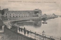 59-Coudekerque-Branche Le Canal De Bourbourg, Vers Capelle Et La Fabrique D'Huile Lesieur - Coudekerque Branche