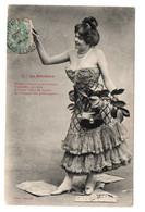BERGERET - LA RÉCLAME - N° 1 - FEMME - WOMAN - USED  1907 ?-  FRANCE - DAMAGE SEE SCAN ! - Bergeret