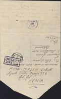 Guerre 40 Correspondance Prisonnier De Guerre Italien Cachet P.O.W. E.A.F. 353 Gilgil Kenya Censures P/W East Africa 037 - Kenya & Uganda