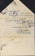 Guerre 40 Correspondance Prisonnier De Guerre Italien Cachet P.O.W. E.A.F. 359 Burguret Kenya Censures Italie Angleterre - Kenya & Uganda