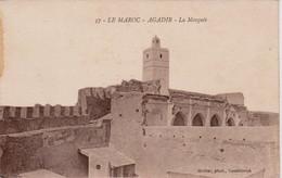 MAROC - Lot De 2 CPA - Agadir  - La Mosquée + Hôtel Marhaba - Agadir