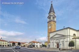 (R165) - FOSSALTA DI PIAVE (Venezia) - Piazza Della Vittoria E Parrocchia Dell'Immacolata Concezione - Venetië (Venice)