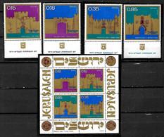 ISRAEL STAMPS. 1971 JERUSALEM GATES. TAB, MNH - Ungebraucht (mit Tabs)