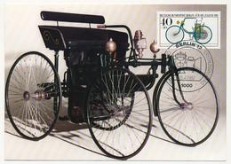 "ALLEMAGNE BERLIN - 4 Cartes Maximum - Automobiles - Série ""Für Die Jugend""  - BERLIN - 15/4/1992 - Maximumkarten (MC)"