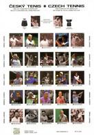 Czech Republic - 2021 - Czech Tennis - Centenary In The Davis Cup - Mint Self-adhesive Personalized Stamp Sheet - Nuovi