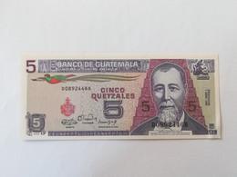 GUATEMALA 5 QUETZALES 1990 - Guatemala