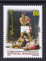 Macedonia 2017 75 Years Anniversary Muhammad Ali Cassius Clay Boxing Sports United States, MNH - Pugilato