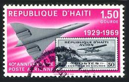 Haiti 1969 Poste Aérienne 40 Ans  Fokker F-10 Super Trimoteur,  Concorde (St Gibbons 1240) - Airplanes
