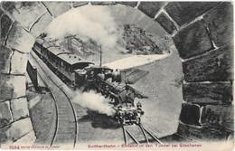 Goschenen : Train Entrant Dans Le Tunnel - UR Uri