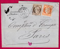 N°38 56 GC 1805 HONFLEUR CALVADOS POUR PARIS - 1849-1876: Klassik