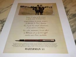 ANCIENNE PUBLICITE STYLO WATERMAN 1997 - Altri