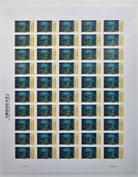 Impressionnisme - VAN GOGH - Nuit étoilée - Autoadhésif LV 20 G  N ° 835 A - Feuille Entière De 50 TP Support Blanc - Volledige Vellen