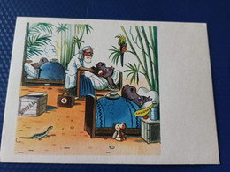 DOCTOR AIBOLIT - DR DOOLITTLE. By Suteev. OLD USSR PC. 1962 Teddy Hippo - Hippopotamuses