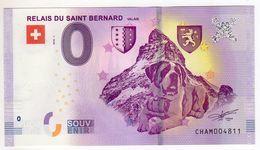 2018-1 BILLET TOURISTIQUE SUISSE 0 EURO SOUVENIR N°CHAM004980 RELAIS DU SAINT BERNARD Valais - Essais Privés / Non-officiels