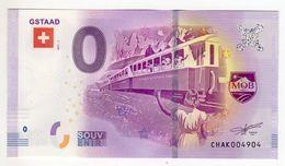 2017-1 BILLET TOURISTIQUE SUISSE 0 EURO SOUVENIR N°CHAK004918 GSTAAD Train Golden Mountain Express - Essais Privés / Non-officiels