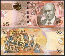 Bahamas - 5 Dollars 2013 UNC P. 72A Lemberg-Zp - Bahamas