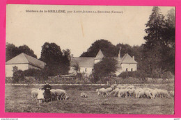 CPA (Réf: Z 3771) Château De La GRILLÈRE Par SAINT-JUNIEN-LA-BREGÈRE (23 CREUSE) (animée, Bergère Et Ses Moutons) - Altri Comuni